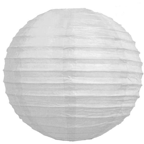 "16"" Paper Chinese Lantern Hanging Decor Set - White - 12pcs"