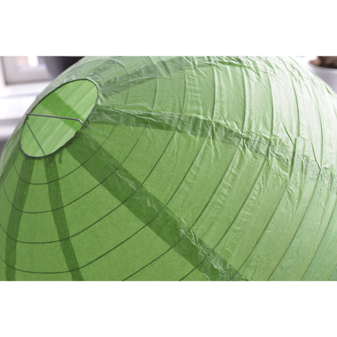 "12 Pack | 24"" Green Round Chinese Paper Lanterns"