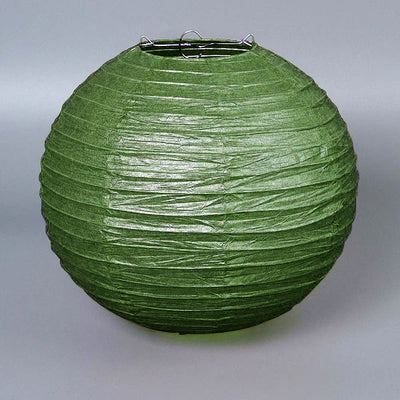 "12 Pack | 20"" Green Round Chinese Paper Lanterns"