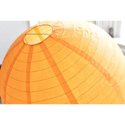 "12 Pack | 24"" Orange Round Chinese Paper Lanterns"