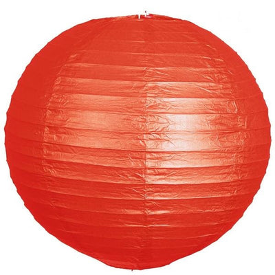 "20"" Paper Chinese Lantern Hanging Decor Set - Red - 12pcs"