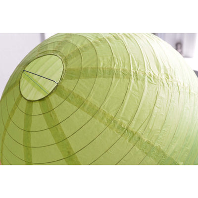 "12 Pack | 20"" Lime Green Round Chinese Paper Lanterns"