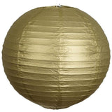 "24"" Paper Chinese Lantern Hanging Decor Set - Gold - 12pcs"