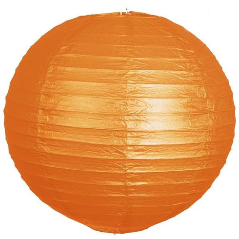 "24"" Paper Chinese Lantern Hanging Decor Set - Orange - 12pcs"