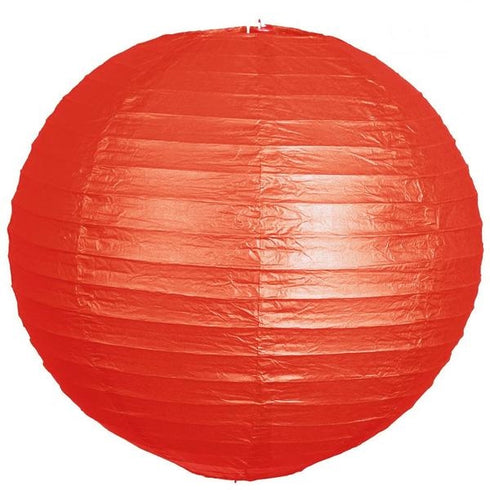 "24"" Paper Chinese Lantern Hanging Decor Set - Red - 12pcs"