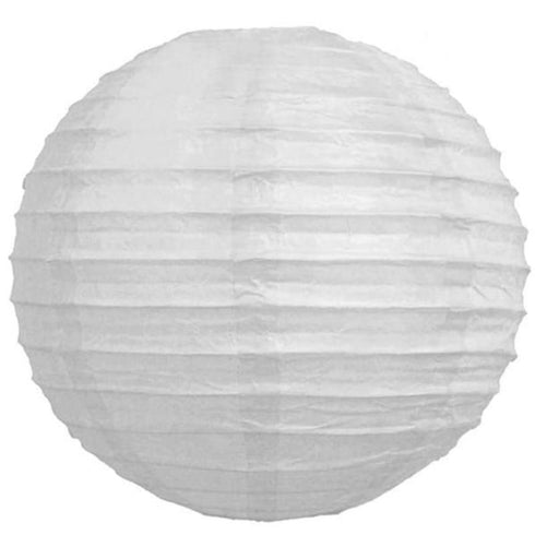 "24"" Paper Chinese Lantern Hanging Decor Set - White - 12pcs"