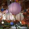 "12 Pack | 24"" White Round Chinese Paper Lanterns"