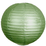 "30"" Paper Chinese Lantern Hanging Decor Set - Green - 12pcs"