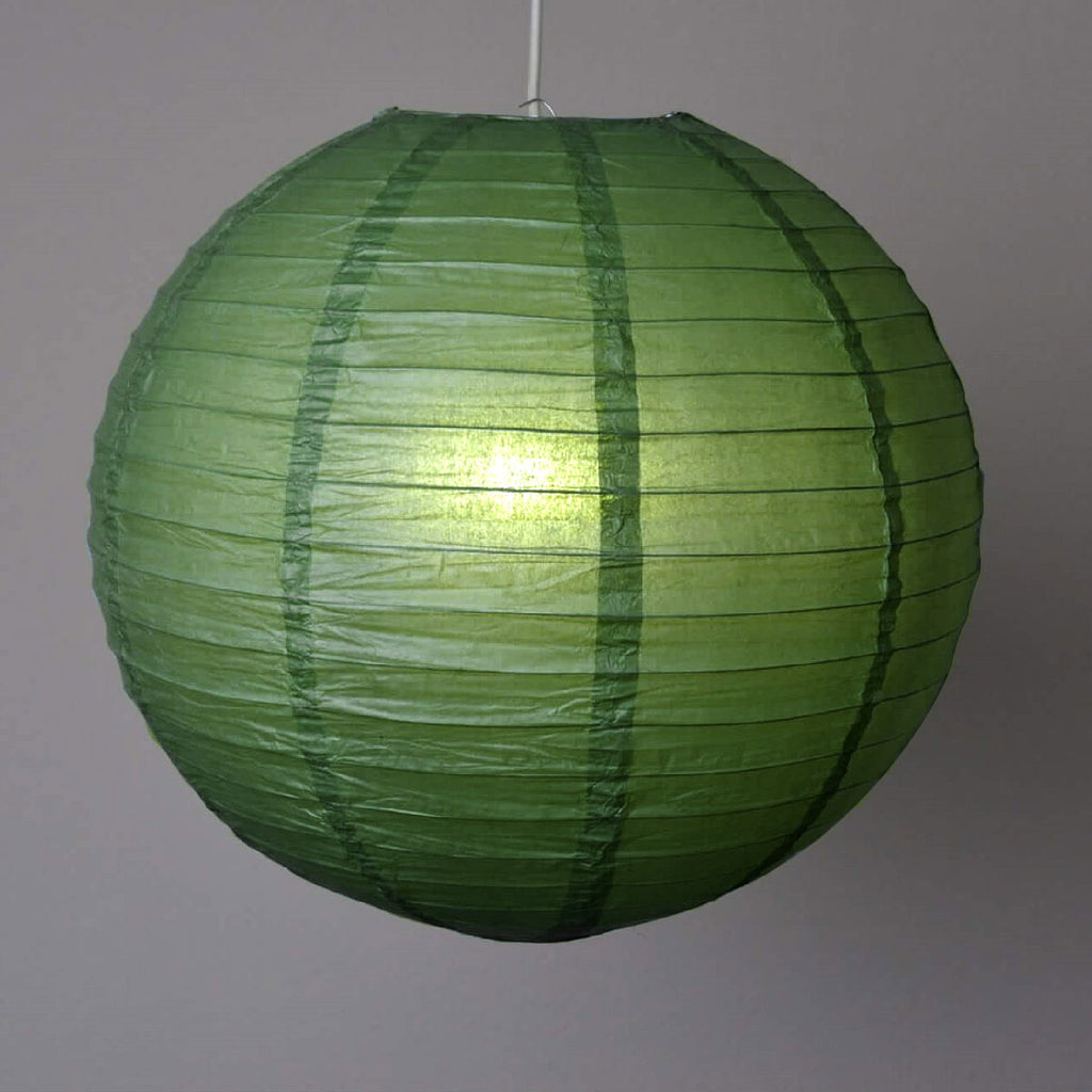 "30"" Paper Chinese Lantern Lamp Shade Hanging Party Event Decor Set - Green- 12 PCS"