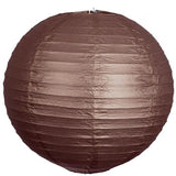 "8"" Paper Chinese Lantern Hanging Decor Set - Chocolate - 12pcs"