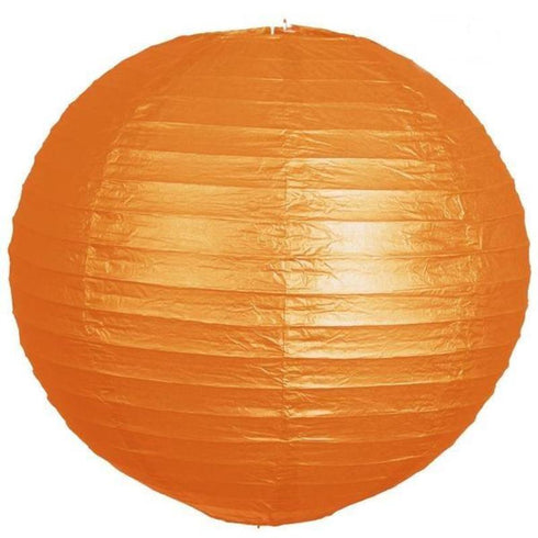 "8"" Paper Chinese Lantern Hanging Decor Set - Orange - 12pcs"