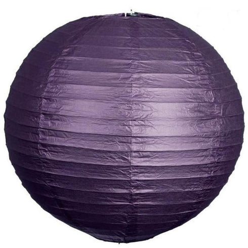 "8"" Paper Chinese Lantern Hanging Decor Set - Purple - 12pcs"