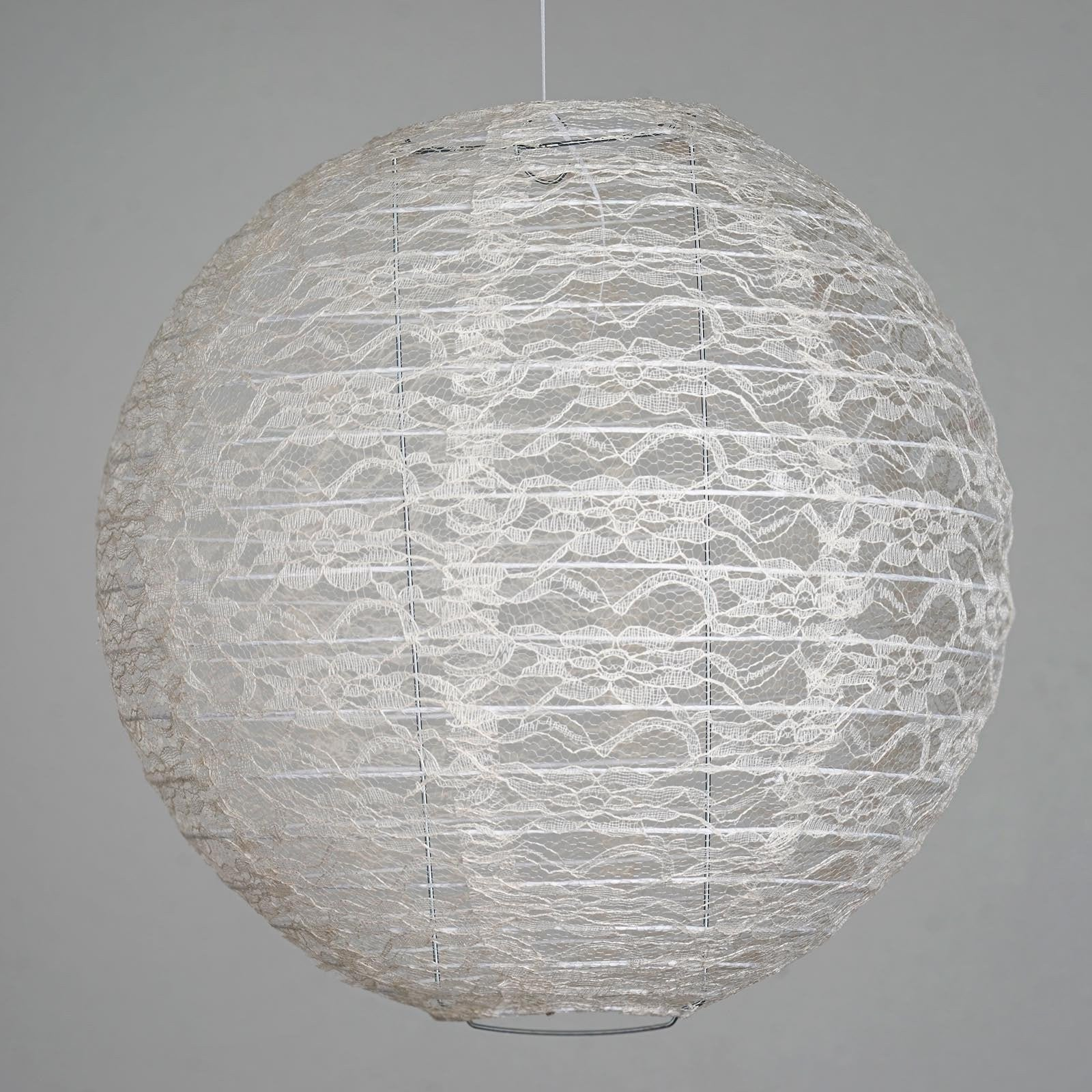 Luxurious Floral Lace Lanterns - Ivory | eFavorMart