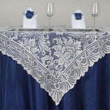 "54"" x 54"" JOLLY GOOD Lace Table Overlay - Ivory"