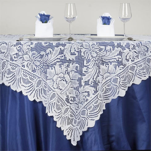 "54"" x 54"" JOLLY GOOD Lace Table Overlay - White"