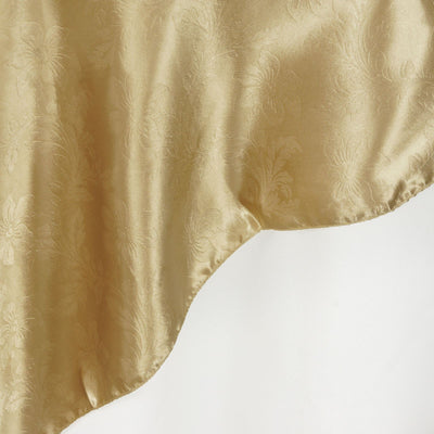 "Adoringly Adorned Satin Lily Overlay 60"" x 60"" - Champagne"