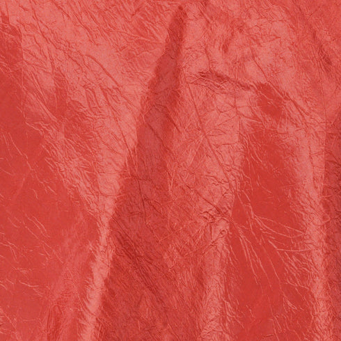 "Burnt Orange Taffeta Crinkle Overlay 60""x60"""