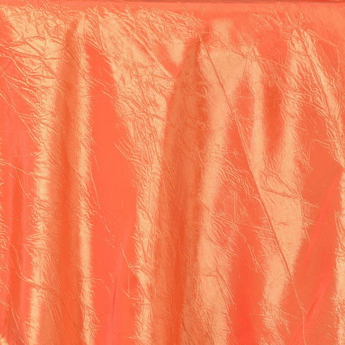 "Orange Taffeta Crinkle Overlay 60""x60"""