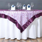 "Eggplant Embroidered Overlay 60""x60"""