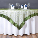 "Embroidered Overlay 60""x60"" - Moss / Willow"