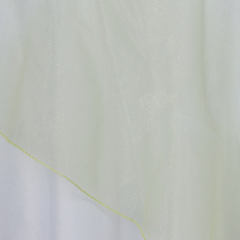 60'' | Apple Green Square Sheer Organza Table Overlays