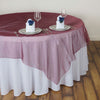60inch | Burgundy Square Sheer Organza Table Overlays