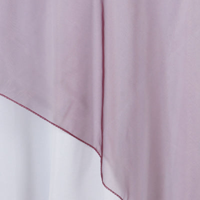 60'' | Burgundy Square Sheer Organza Table Overlays
