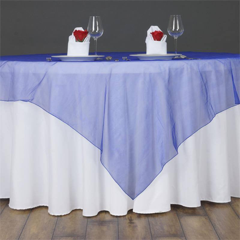 "Royal Blue Organza Overlay 60""x60"""