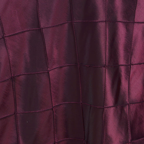 "60""x 60"" Burgundy Pintuck Square Overlay"