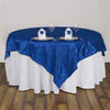 "60""x60"" Square Royal Blue Pintuck Table Overlay"