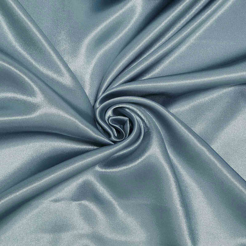 "60""x 60"" Dusty Blue Seamless Square Satin Tablecloth Overlay"