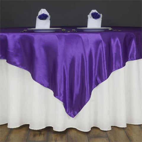 Purple Satin Overlay 60x60""