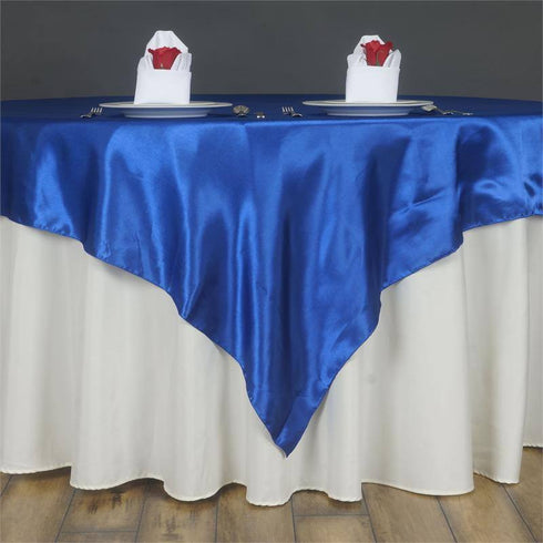 Royal Blue Satin Overlay 60x60""