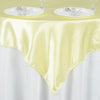 "60""x 60"" Yellow Seamless Satin Square Tablecloth Overlay#whtbkgd"