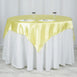 "60""x 60"" Yellow Seamless Satin Square Tablecloth Overlay"