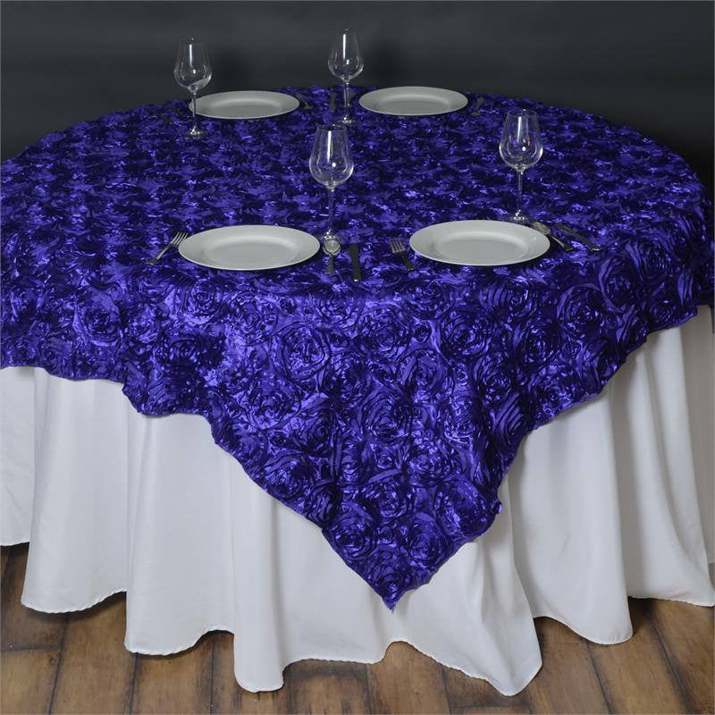 "Wonderland Rosette Overlay 72""x72"" - Purple"