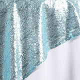 "LUXURY COLLECTION Duchess Sequin Overlay 72"" x 72"" - Serenity Blue"