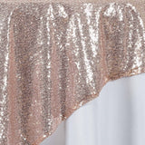 "LUXURY COLLECTION Duchess Sequin Overlay 72"" x 72"" - Blush"