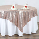 "72"" Sequin Square Overlay - Rose Gold 