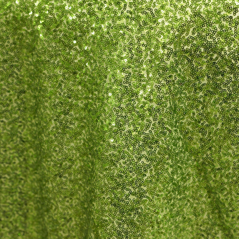 "LUXURY COLLECTION Duchess Sequin Overlay 72"" x 72"" - Apple Green"