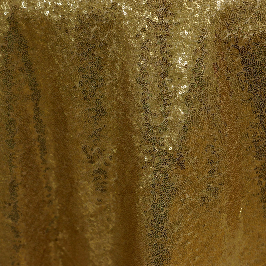 "LUXURY COLLECTION Duchess Sequin Overlay 72"" x 72"" - Gold"