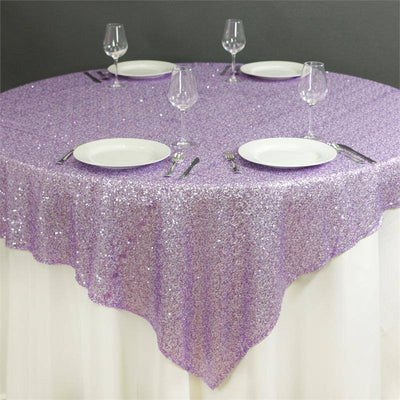 "LUXURY COLLECTION Duchess Sequin Overlay 72"" x 72"" - Lavender"