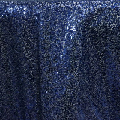 "LUXURY COLLECTION Duchess Sequin Overlay 72"" x 72"" - Navy Blue"