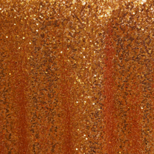 "LUXURY COLLECTION Duchess Sequin Overlay 72"" x 72"" - Orange"