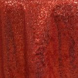 "LUXURY COLLECTION Duchess Sequin Overlay 72"" x 72"" - Red"