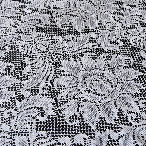 "72"" x 72"" JOLLY GOOD Lace Table Overlay - White"