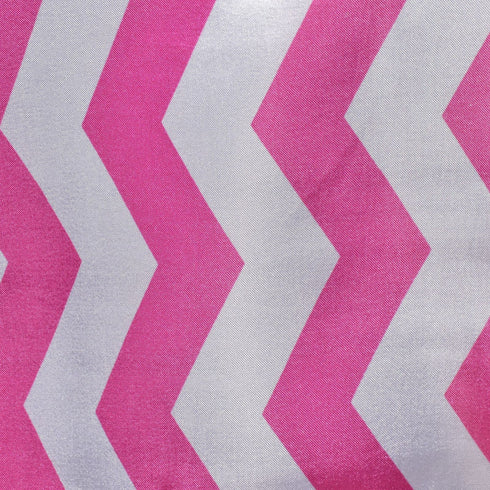 "72"" x 72"" Jazzed Up Chevron Overlays Fushia/White"