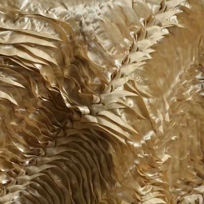 "72"" x 72"" Beverly Hills Style Overlay Champagne Satin Waves"