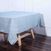 72x72 Dusty Blue Crinkle Crushed Taffeta Square Overlay