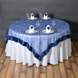 "Navy Embroidered Overlay 72""x72"""